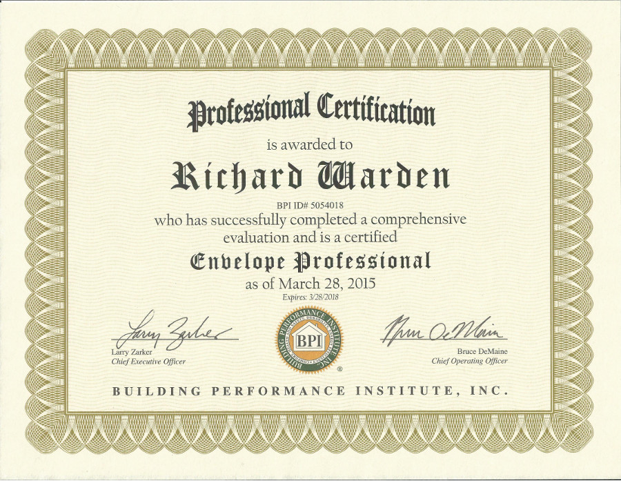 Degree certificates suffolk ny home inspections llc for Certified professional building designer