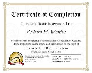 Roof Inspections Certificate - NACHI - reduced size -
